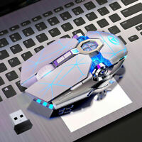 Wireless Gaming Mouse Color LED Mouse USB Backlit Rechargeable For PC Laptop
