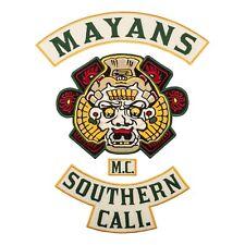 Mayans Southern Cali M.C. Back Patch, Biker Gang Embroidered Emblem, 2 colors