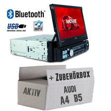 Caliber Autoradio für Audi A4 B5 Aktiv Bluetooth/MP3/USB/SD/7' TFT Einbauset