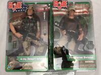 "NEW! 2003 Hasbro GI JOE 2 Pack -12"" ARMY DESERT INFANTRY & 26th MARINE DIVISION"