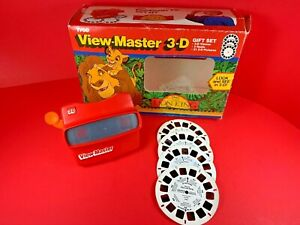 VINTAGE TYCO VIEW-MASTER 3-D GIFT SET DISNEY THE LION KING VIEWER / 4 REELS