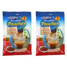 14 Pouches Resealable Reusable Self standing storage fridge food juice soup bags