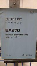 Hitachi EX270 - Excavator Crawler Spare Parts List Book Catalog Manual