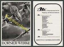 ORIG. publicitarias aviación Dornier-Werke Friedrichshafen do 215 bisel con piloto 1939