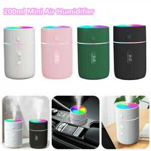 220ml USB Mini Humidifier LED Night Light Spraying Diffuser for Home Office Car