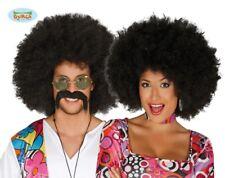 Parrucca afro nera extra ricciolona hippie