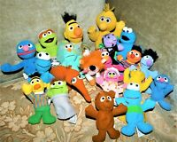 Vintage Sesame Street Plush Characters Lot 20 Tyco Gund Kelloggs Bert Ernie +++
