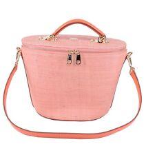 DOLCE & GABBANA RUNWAY Raffia Handbag Bag Pink Orange 03569