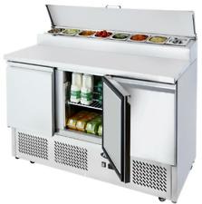 Empire Stainless Steel Three Door Open Top Pizza Prep Counter - PS300