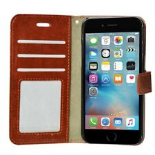 Brown Leather Flip Wallet Slim Case Cover Pouch With Card Holder For Apple 6 6S