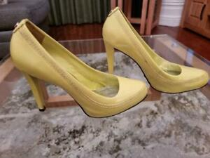 Karen Millen High Heel Lime Coloured Leather Women's Shoes Size 38 / 5