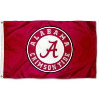 University of Alabama Crimson Tide Flag Circle Logo Large 3x5