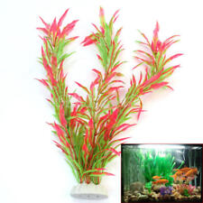 Aquarium Decor Landscaping Ornament Artificial Plastic Fake Flower Plants 24.5cm