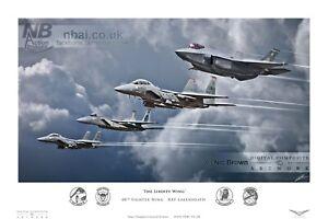 F-15C/E Eagle & F-35A RAF Lakenheath FS of 48th Fighter Wing, Digital Artwork