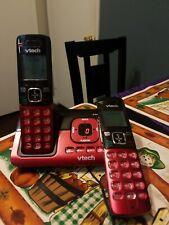Red Vtech 2 Handheld Cordless Phones with Answering System Model: Cs6829-26