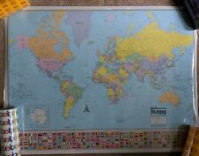 2003 COLORPRINT map of the world mercator projection American map corporation