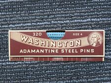 Washington Steel Pins Sewing Tailor In Original Package Nos 320 Size 4 S488