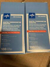 MDS9608 - Digital Rectal Thermometers Sheaths Medline 200 qty Brand New