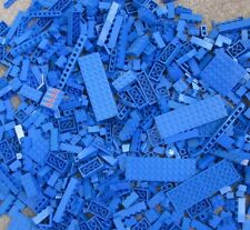 ☀️100+ BLUE LEGO PIECES FROM HUGE BULK LOT BRICKS PARTS @ RANDOM NO MINIFIGURES