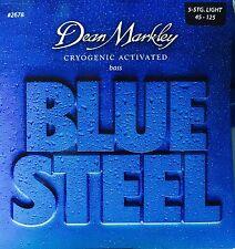 Dean Markley 2678 Blue Steel BASS Guitar Strings 5-string 45-125 lite gauge