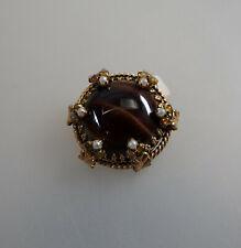 Neugablonz Trachten Brosche mit Perlen nach altem Vorbild (61511)