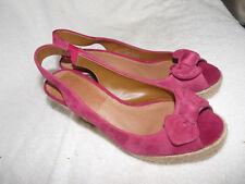 Ladies Clarks wedge heel shoes size 4 Colour Raspberry Style Sydnee Bahama2