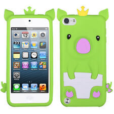 APPLE iPod Touch 5thgeneration Pastel Skin Cover – Crown PIGGIE Design (Green)