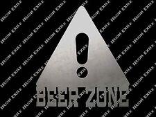 Beer Zone Funny Mancave Bar Pub Pool Dorm Room Wall Art Metal Sign Gift Idea