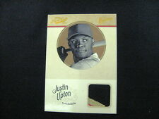 JUSTIN UPTON GAME-WORN 3 COLOR PATCH CARD --2012 PRIME CUTS #'D TO 25 !!