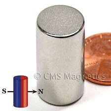 "DIAMETRICALLY Magnetized Neodymium Magnet N42 Dia 1/2x1"" NdFeB Rare Earth 10-Cnt"