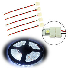 For Single Color 5050-Smd Led Strip Light Quick Easy Connectors Wiring x5(Fits: Neon)