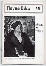 REVUE CIBA N°29 PORTRAITS DE MEDECINS 1943 PEINTURE BEAUX-ARTS MEDECINE HISTOIRE