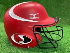 """Mizuno Mbh600 Prospect 6-6 3/4"""" Batter's Helmet Youth Baseball W Cage Red White"""