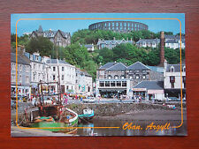 Nice retro colourful 1990s RP Postcard of Oban, Argyll, Scotland, with 90s cars