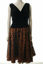 SL FASHIONS GORGEOUS BLACK VELVET SEMI FORMAL DRESS MISSES SIZE 14 NEW FREE SHIP