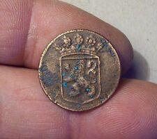 Dutch Colonial Copper Coin Duit VOC 1750 Holland