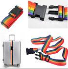 Adjustable Travelling Backpack Bag Luggage Suitcase Straps Baggage Rainbow Belt