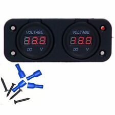 Dual Battery Monitor Volt Meter LED 12v 24v for Redarc ARB CTek Projecta Charger