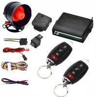 Car Central Alarm Burglar Protection System 2 Remote Control Keyless Entry Siren