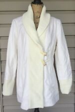 VINCE CAMUTO WOMENS WOOL CARDIGAN SWEATER PEA COAT CREAM WHITE LARGE NEW! $213