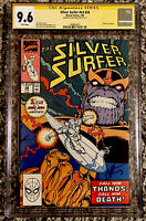 SILVER SURFER #34 CGC 9.6 SS SIGNED BY JIM STARLIN (1990) RETURN OF THANOS