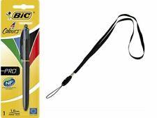 BIC 4 Colour Pro Retractable Ballpoint Pen + FREE 48cm Lanyard 897781