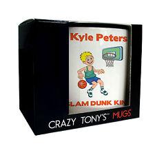 Mens Personalised Basketball Gifts, Crazy Tony's, Mens Fun Basketball Player Mug