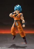 SHF Dragon Ball Super Saiyan God SS Son Gokou Action Figure Toy New in Box