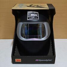 New 3M Speedglas 100 Black Auto Darkening Filter 100V Welding Helmet