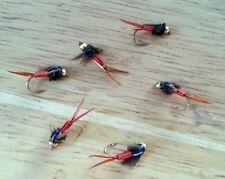 One dozen (12) Bead Head Red Copper Johns size 16 fishing flies