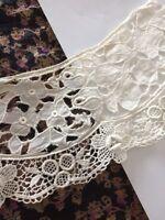 Vintage Lace Collar Cutter Scrap Primitive Fragment Hat Doll Sewing Clothes