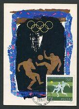 POLEN MK 1964 OLYMPIA FOOTBALL SOCCER OLYMPIC MAXIMUMKARTE MAXIMUM CARD MC d5154