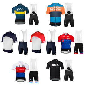 POC Men Short Cycling Jersey MTB Gel Bib Pants Bicycle Racing Shirt Suit