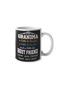 Grandma Our Bestfriend 11 oz Mug Ceramic Novelty Gift From Grand Children